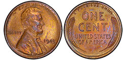 1943 copper Lincoln penny, valuable pennies, pennies worth money, rare pennies