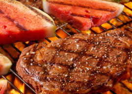 Barbecue Bliss: Grilled Meat + Grilled Fruit