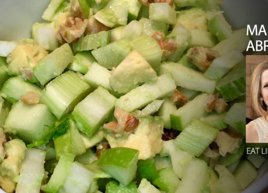 Green Gobblin' Salad: Fennel, Apple, Broccoli & Avocado