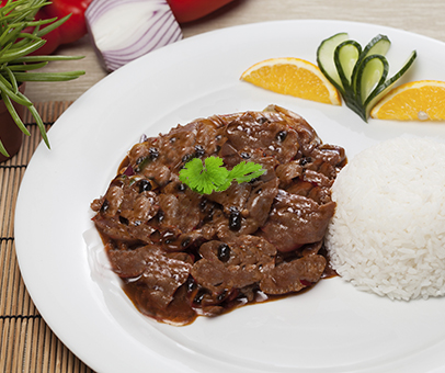 beef with black beans and pepper