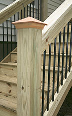 Capped Exterior Handrail Post