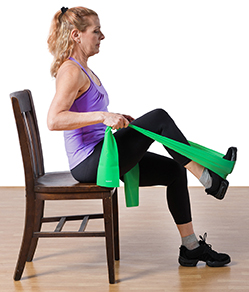 Seated leg press.
