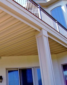 Expand outdoor storage under a raised deck with an under-deck ­ceiling.